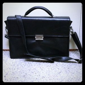 Genuine Kenneth Cole Leather Briefcase